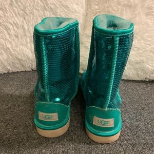 UGG Shoes - Teal Women's Classic Short Sequin UGG Boots